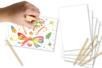 Cartes à gratter  blanches fond multicolore + grattoirs - 5 cartes - Carte à gratter - 10doigts.fr