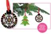 Set de 6 boules de Noël en carte à gratter + 6 grattoirs + 6 rubans satin - Arc-en-ciel – 10doigts.fr