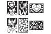 Cartes à métalliser Nature et coeurs - 6 cartes assorties - Kits créatifs en Papier – 10doigts.fr