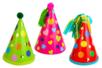 Cônes en carte forte - 6 couleurs assorties - Mardi gras, carnaval – 10doigts.fr