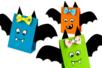 Chauve-souris en papier facile à fabriquer - Halloween – 10doigts.fr