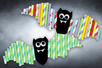 Chauves-souris avec pailles en carton - Halloween – 10doigts.fr