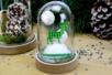 Rennes de Noël en bois décoré - Set de 8 - Motifs peints – 10doigts.fr