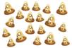 Clochettes métalliques dorées - Set de 30 - Grelots et clochettes – 10doigts.fr