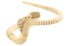Cobra articulé en bois naturel - Animaux en bois à décorer – 10doigts.fr