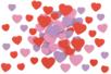 Stickers coeurs en caoutchouc souple - 45 pièces - Formes en Mousse autocollante - 10doigts.fr