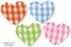 Coeurs en tissu molletonné vichy - 8 pièces - Motifs en tissu molletonné – 10doigts.fr