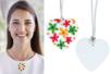 Colliers bois forme cœur - 6 pendentifs - Colliers et chaines - 10doigts.fr