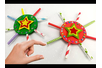 Étoile de noël avec pailles en carton - Noël – 10doigts.fr
