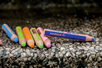 Crayons de couleurs 3 en 1 WOODY - 10 couleurs - Crayons de couleurs – 10doigts.fr