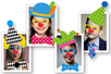 """Crazy Stickers """"Déguise-toi en clown"""" - 208 stickers - Stickers Fantaisies – 10doigts.fr"""