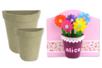 Demi-pot en papier mâché - Pots, vases en carton - 10doigts.fr