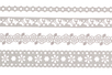 Dentelle adhésive en papier - 4 rouleaux Blancs assortis - Adhésifs colorés et Masking tape – 10doigts.fr
