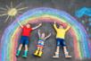 Craies de trottoir - Blanches ou colorées - Craies, tableaux, ardoises – 10doigts.fr