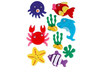 Stickers de la mer en feutrine - Formes en Feutrine Autocollante – 10doigts.fr