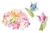 Papier origami fleuri - Set de 170 feuilles - Papiers Origami – 10doigts.fr