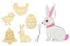 Formes de Pâques en bois - 5 formes gravées - Kits activités Pâques – 10doigts.fr