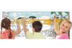 Fresque géante à colorier : Savane Africaine - Support pré-dessiné – 10doigts.fr