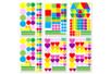 Gommettes électrostatiques pour vitres - 6 planches - Toutes les gommettes géométriques – 10doigts.fr