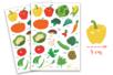 Gommettes légumes - 2 planches - Gommettes Fruits et Légumes – 10doigts.fr