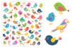 Gommettes Oiseaux - Set de 90 gommettes - Gommettes Animaux – 10doigts.fr