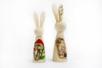 Lapins en bois - Set de 2 - Animaux 3D – 10doigts.fr