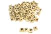 Lettres de scrabble en bois - 110 pièces - Décorations à coller – 10doigts.fr