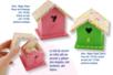 Boite nichoir, décoration peinture et tissu adhésif - Décoration d'objets – 10doigts.fr