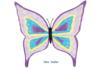Magnets papillon - Lot de 6 - Support blanc – 10doigts.fr