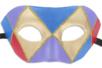 "Masque vénitien rigide forme ""loup"" - Masques – 10doigts.fr"
