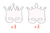 Demi masques Couronnes - 6 masques - Masques – 10doigts.fr