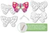 Masques papillons à décorer - Set de 4 - Mardi gras, carnaval – 10doigts.fr