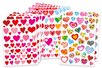 Maxi lot 534 Gommettes coeurs assorties - Coeurs autocollants – 10doigts.fr