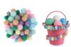 Mini-pompons couleurs pastel - Set de 200 - Pompons – 10doigts.fr