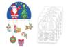Mobiles Noël à colorier - Lot de 4 - Support pré-dessiné – 10doigts.fr