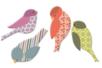 Moineaux en bois décoré - Set de 8 - Motifs peint - 10doigts.fr