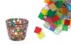 Mosaïques en résine acrylique translucides brillantes - Mosaïques résine acrylique - 10doigts.fr