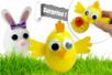 Oeufs surprises de Pâques : poussin et lapin - Tutos Pâques – 10doigts.fr