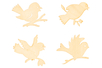 Oiseaux en bois naturel assortis - Set de 8 - Motifs bruts – 10doigts.fr