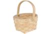 Panier rond en copeaux de bois tressé - Paniers en bois – 10doigts.fr