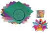 Papiers carrés nacrés et gaufrés - Set de 50 - Papiers Origami - 10doigts.fr