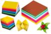 Feuilles pour pliages Origami - 10 couleurs assortis - Papiers Origami – 10doigts.fr