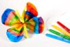 Papillons avec du papier diffuseur et des feutres - Activités enfantines – 10doigts.fr