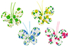 Papillons en tissu molletonné fleuri - Set de 8 - Motifs en tissu molletonné - 10doigts.fr