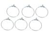 Boucles créoles d'oreilles argentées - Lot de 6 - Boucles et pendentifs d'oreilles - 10doigts.fr