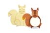 Animaux pense-bête en bois - Set de 6 - Animaux en bois à décorer – 10doigts.fr