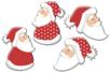 Pères Noël en bois décoré - Set de 8 - Motifs peint - 10doigts.fr