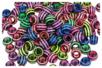 Perles abeilles couleurs vives - 100 perles - Perles acrylique – 10doigts.fr