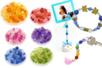 Perles à facettes 6 camaïeux - 900 perles - Perles acrylique - 10doigts.fr