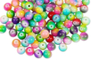 Perles arc-en-ciel en verre - 100 perles - Perles en verre - 10doigts.fr